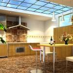 Дизайн потолка на кухне (7)