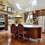 Дизайн потолка на кухне (9)