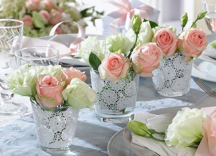 Украшение для свадебного стола гостей своими руками
