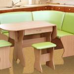 Салатовый цвет мебели
