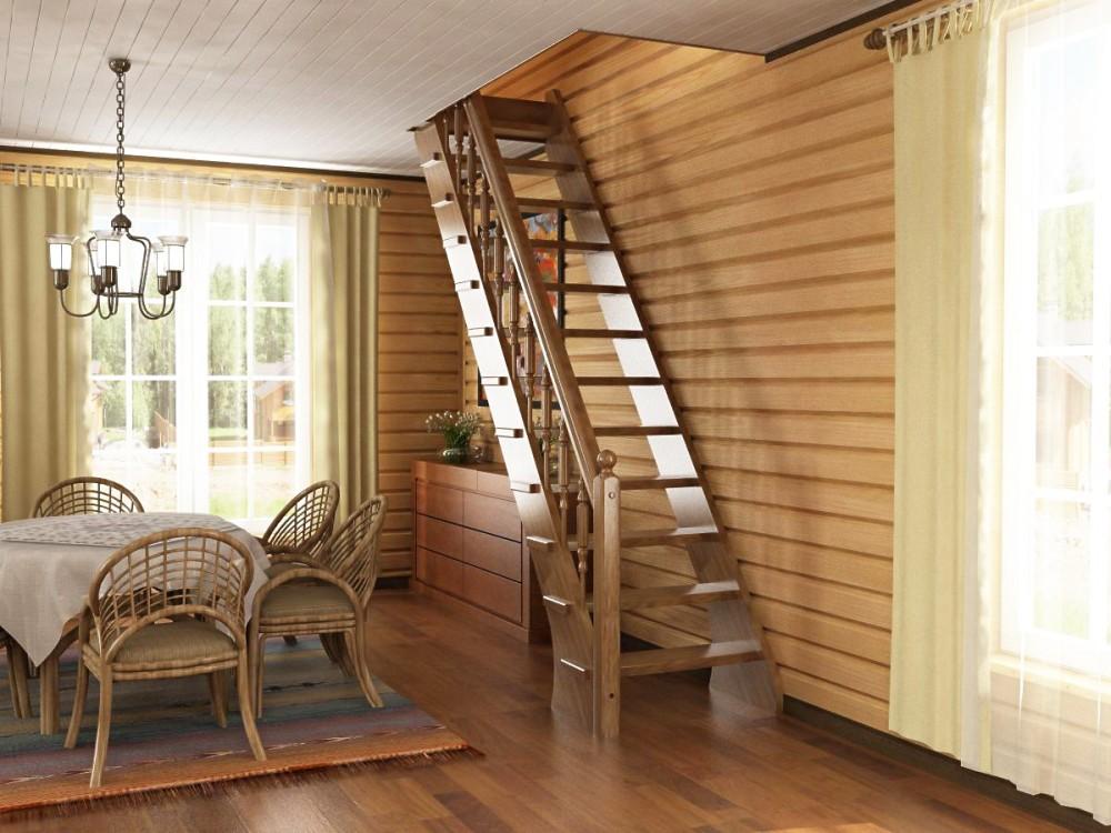 Деревянные лестницы в частном доме своими руками фото
