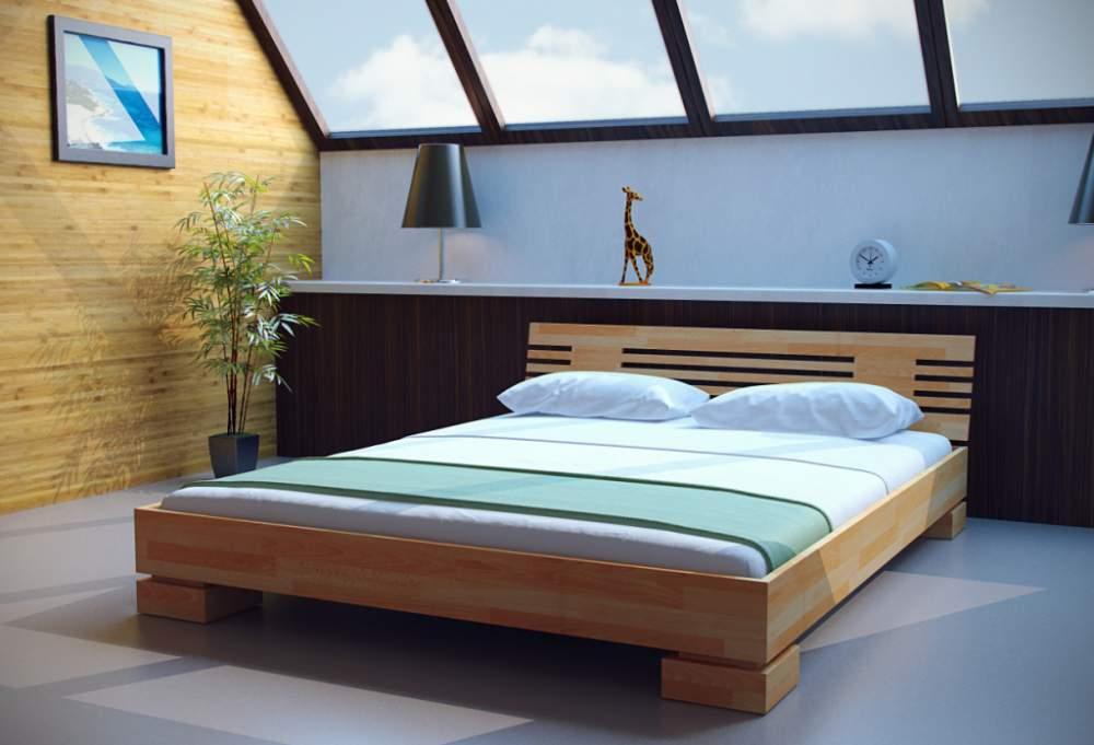 Двуспальная кровать низкая