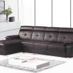 Фото 13: Черный кожаный диван