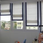 Фото 15: Разноуровневые римские шторы