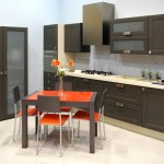 Фото 18: Черно-оранжевое сочетание стола