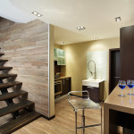 Коричневый дизайн лестницы