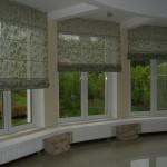 Фото 21: Зеленые римские шторы