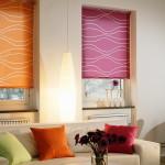 Фото 30: Яркие шторы римские