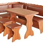 Фото 5: Деревянный кухонный уголок с кожей