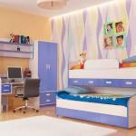 Голубой стиль комнаты