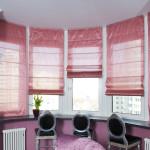 Фото 7: Розовые римские шторы