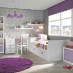 Фиолетовое сочетание мебели