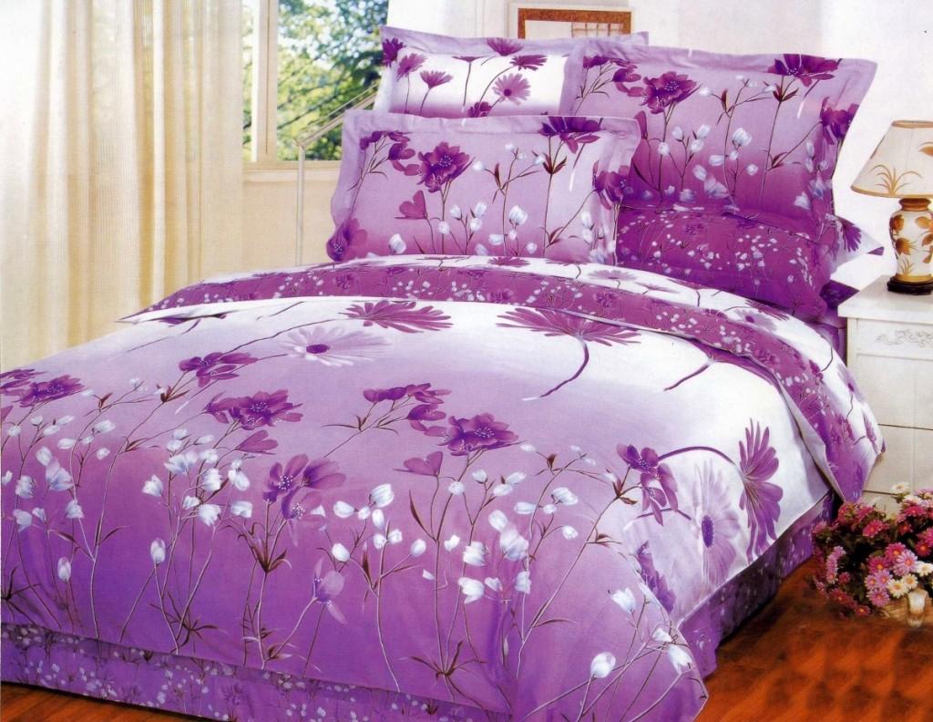Фиолетовая расцветка белья