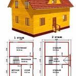 Проект дома 9х6