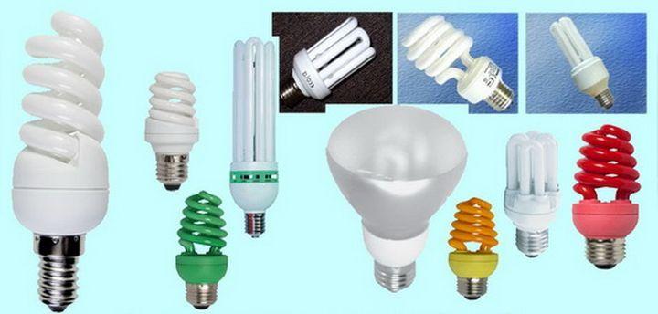 Разнообразие форм и размеров энергосберегающих ламп