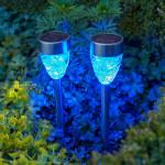 Фото 12: Голубой солнечный светильник