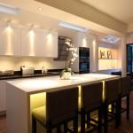 Фото 17: Дизайн кухонногоосвещения