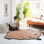 Фото 130: Шерстяной коврик в виде Олененка