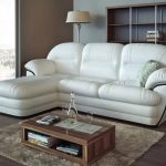 Фото 56: Белый кожаный диван