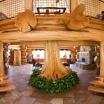Фото 19: Дизайн дома с растущим деревом в холле