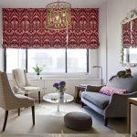 Фото 72: Римская штора в гостиной на все окно