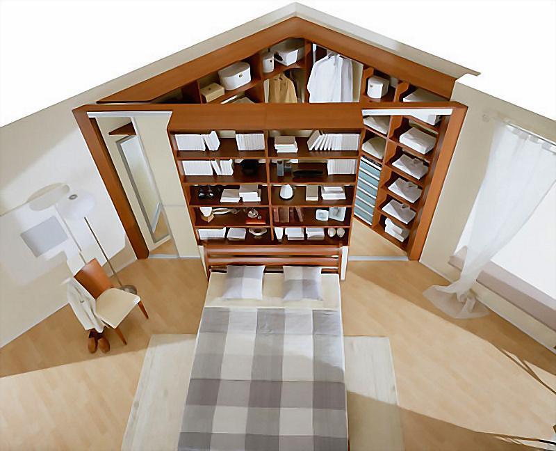 Угловой встроенный шкаф-гардеробная