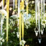 Фото 12: Гирлянды с живыми цветами