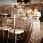 Фото 13: Оформление свадьбы в золотом стиле