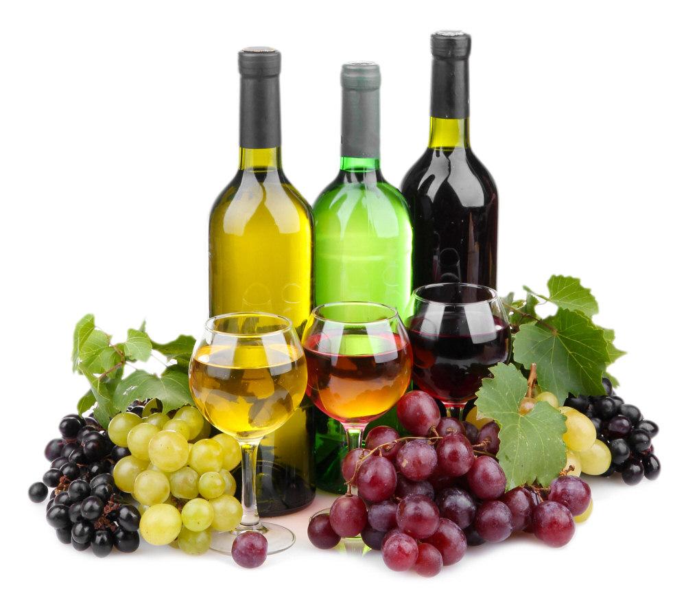 Основные типы вина: белое, розовое, крансое