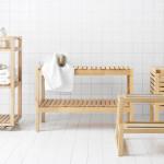 Фото 21: Древянные полки и скамейки для ванны