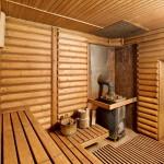 Фото 17: Интерьер бани с каменкой