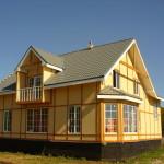 Фото 17: Фото каркасного дома без внешней отделки