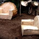 Фото 20: Кресла из бревна