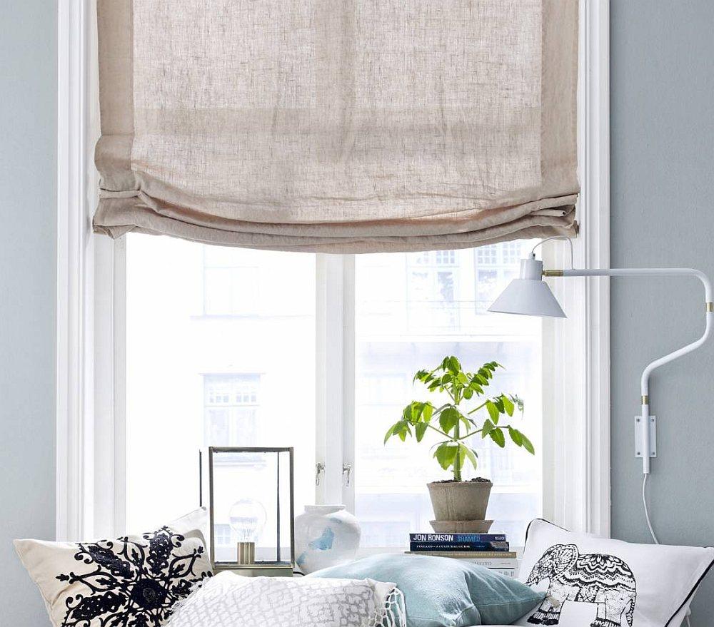 Льняные римские шторы