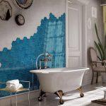 Фото 81: Мозаика настенная с плиткой сотами