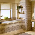 Фото 27: Мозаика в ванной комнате