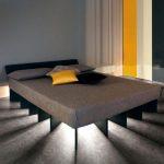 Фото 96: Необычная двуспальная кровать с подсветкой