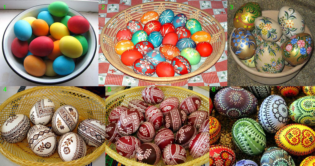 Окрашивание яиц - пасхальная традиция