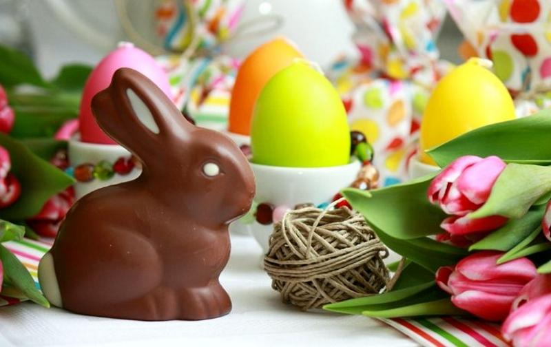Пасхальная фигурка кролика из шоколада