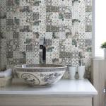 Фото 29: Пэтчворк в ванной
