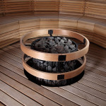 Фото 22: Печь по середине бани