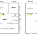 План дома 7x9