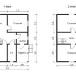 Проект дома 8х7