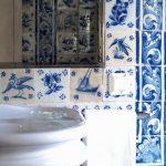 Фото 102: Плитка для ванной с рисунком гжель