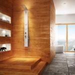 Фото 50: Плитка под вагонку в ванной