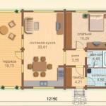 Проект дома 12150x8100