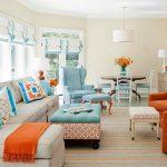 Фото 68: Римские шторы в ретро стиле в гостиной