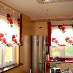 Фото 98: Римские шторы с маками