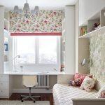 Фото 96: Римские шторы для детской в цветочек