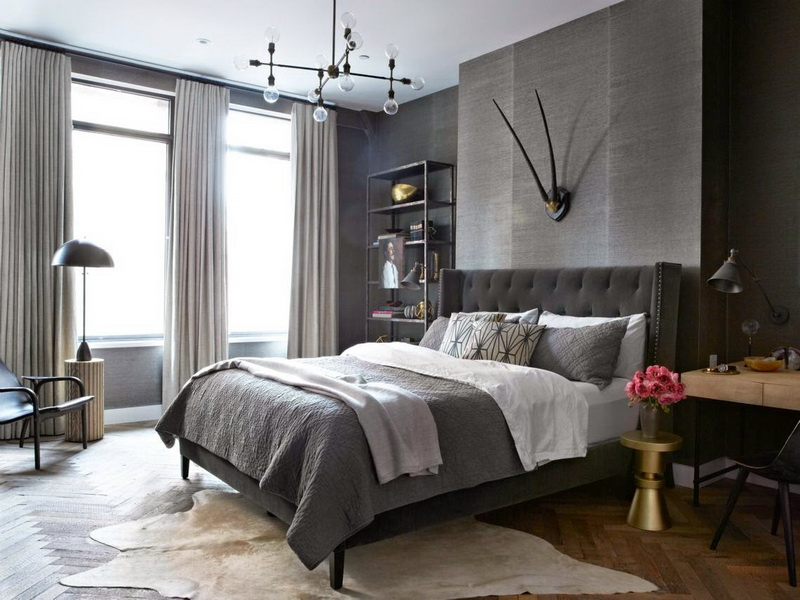 Серая кровать